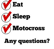 Eat Sleep Motocross Checklist by GiftIdea