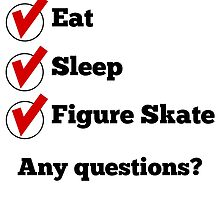 Eat Sleep Figure Skate Checklist by GiftIdea