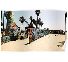 Venice Graffiti Walls Poster