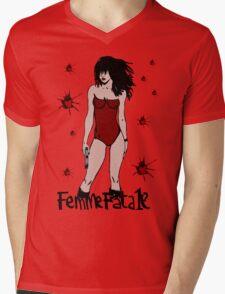 Femme Fatale Mens V-Neck T-Shirt