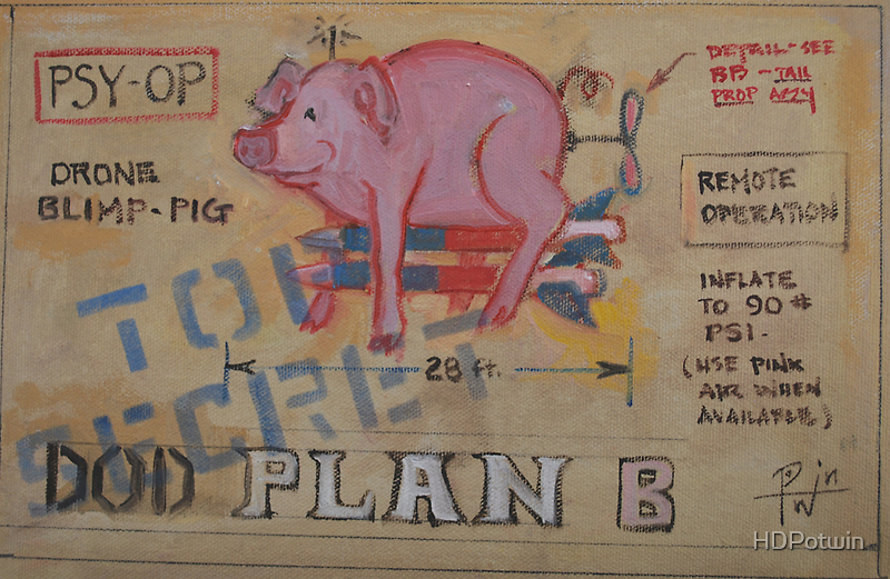 DOD Plan B Drone Blimp Pig by HDPotwin