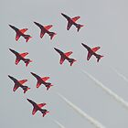 Red Arrows Chevron Formation by mike  jordan.