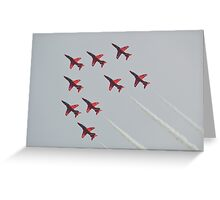 Red Arrows Chevron Formation Greeting Card