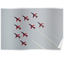 Red Arrows Chevron Formation Poster