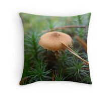 Mushroom and pine needle Throw Pillow