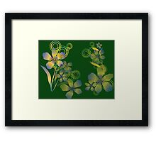 Abstract gradient flowers Framed Print