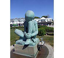 Ridley Watts statue in Watch Hill, RI 2015  Photographic Print