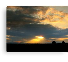 Sunset across the fields of Dunnamaggan Canvas Print