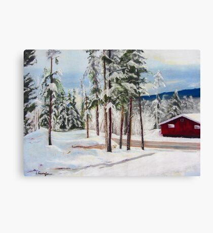 Winter Park at Daybreak Canvas Print