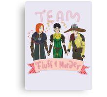 "Team ""Fluff and Murder"" Canvas Print"