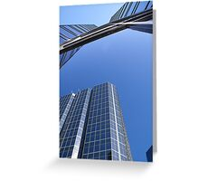 Reflecting Towers Greeting Card