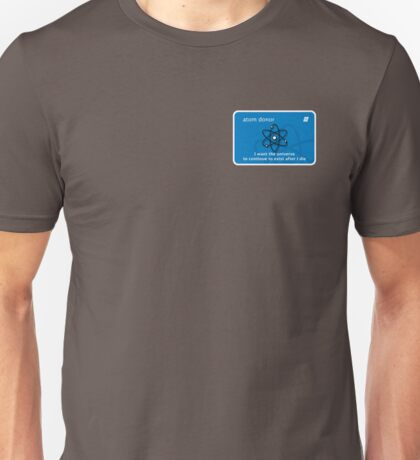 atom donor card [small] Unisex T-Shirt