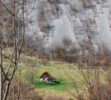 Landscape Near Zaga Sticker