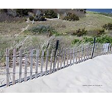 Beach Fence Watch Hill, RI   Napatree Point   2015 ~2 Photographic Print