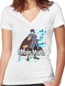 I Main Marth - Super Smash Bros. Women's Fitted V-Neck T-Shirt