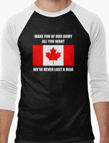 We've never lost a war Men's Baseball ¾ T-Shirt