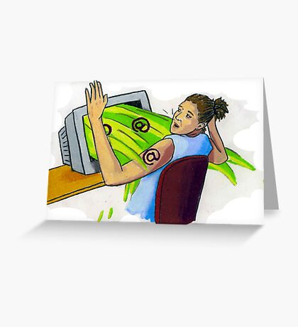 spewin' computer Greeting Card