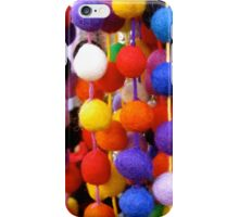 COLOURED COTTON BOBBLES NOW AVAILABLE ON PENCIL SKIRTS AND SCARVES iPhone Case/Skin