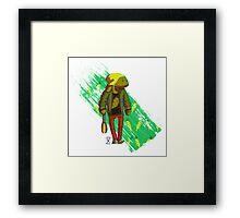 Cool rabbit 3d Framed Print