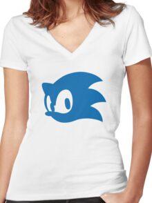 Sonic Women's Fitted V-Neck T-Shirt