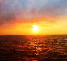 Sunset on the Water  by Pearle