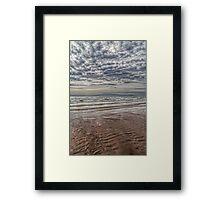 Wave Cloud and Wave Sand. Framed Print