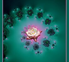 Spiral To A Rose Fractal by Rose Santuci-Sofranko