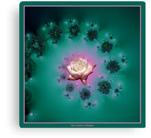 Spiral To A Rose Fractal Canvas Print