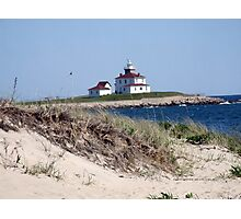Lighthouse in Watch Hill, RI ~ Napatree Point  Photographic Print