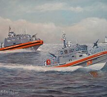 U. s. Coast Guard Boats by William H. RaVell III