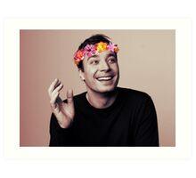 Jimmy Fallon- flower crown Art Print