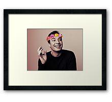 Jimmy Fallon- flower crown Framed Print