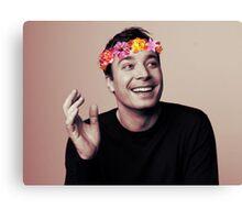 Jimmy Fallon- flower crown Canvas Print