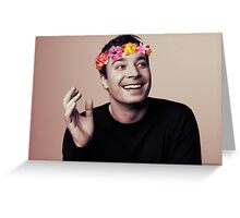 Jimmy Fallon- flower crown Greeting Card