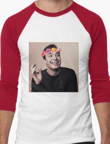 Jimmy Fallon- flower crown Men's Baseball ¾ T-Shirt