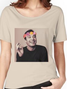 Jimmy Fallon- flower crown Women's Relaxed Fit T-Shirt