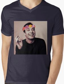 Jimmy Fallon- flower crown Mens V-Neck T-Shirt