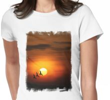 Flying home to roost Womens Fitted T-Shirt