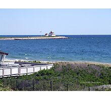 Lighthouse in Watch Hill, RI ~ Napatree Point 2015 Photographic Print