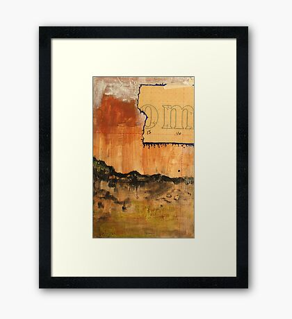 a thoughtful action Framed Print