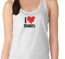I Heart Zombies Women's Tank Top