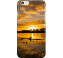 Sunrise rowing iPhone Case/Skin
