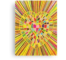 shining heart Canvas Print