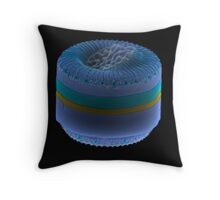 Tabled Blue Throw Pillow