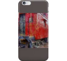 Old Red Caboose iPhone Case/Skin