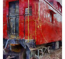 Old Red Caboose Photographic Print