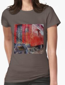 Old Red Caboose Womens Fitted T-Shirt