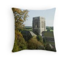 Mount Saint Bernard Abbey Throw Pillow