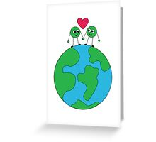 Peas on Earth-For Prints Greeting Card