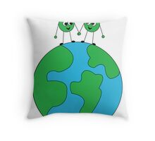 Peas on Earth-For Prints Throw Pillow